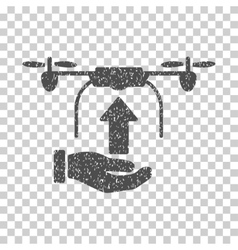 Send Drone Hand Grainy Texture Icon vector