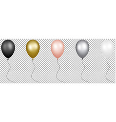 set colorful new year party balloons vector image