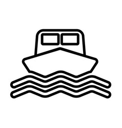 Ship line icon boat sign in outline style vector