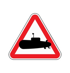 Sign of attention submarine Red triangle with vector image
