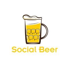 social beer vector image