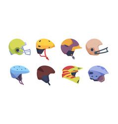 sport helmet motorbike safety accident helmet vector image
