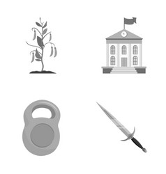 Sport nature ecology and other monochrome icon vector