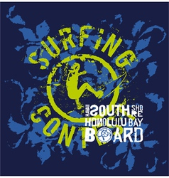 Surfing contest vector image