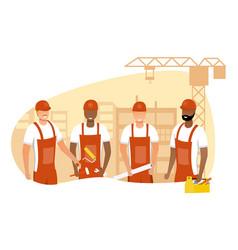 team builders vector image