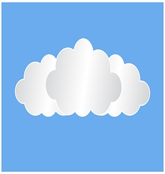 Three white clouds vector image