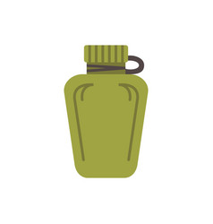 Touristic bottle flat paintball airsoft vector