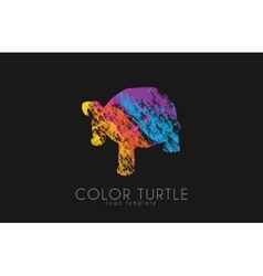 turtle logo design Color turtle Creative logo vector image