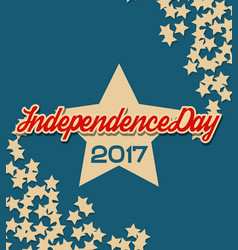 Usa independence day banner with stars vector