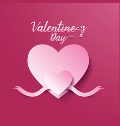 valentines day abstract background heart vector image