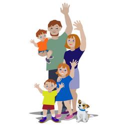 waving family 1 vector image