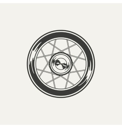 Wheel Black and white style vector