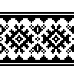 winter pattern - sami people folk art vector image