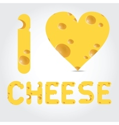 with cheese vector image