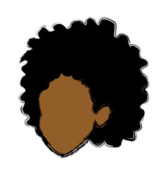 Woman head avatar cartoon female icon vector