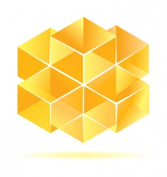 yellow cube design vector image