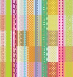 Color ornamental wallpaper vector