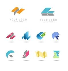 geometry icons set vector image