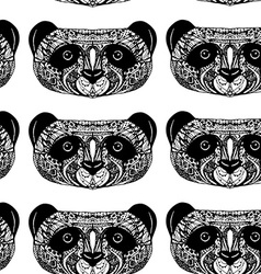 Panda on white background hand-drawing head vector image vector image