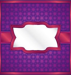 Purple ornamental frame vector image