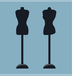 two mannequins on female model vector image