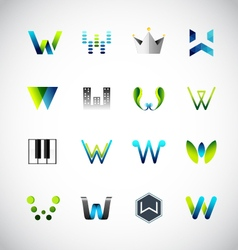 Icon design based on letter W vector image