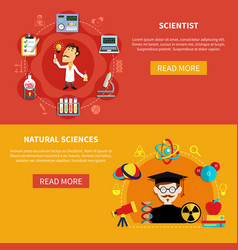 natural science banners vector image
