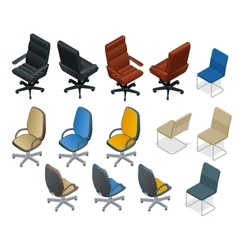 Office chair isolated on white background Chair vector image