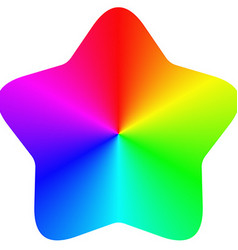 Isolated gradient rainbow star design vector image vector image