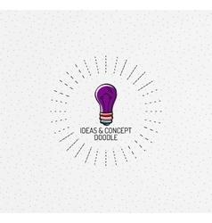multicolored hand-drawn doodles icon vector image vector image