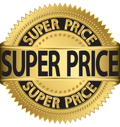 Super price golden label vector image