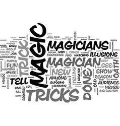 A magician s oath text word cloud concept vector