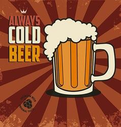 always cold beer vector image vector image