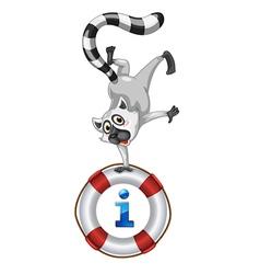 Lemur Kiosk Sign vector image