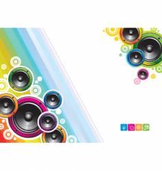 loudspeakers background vector image vector image
