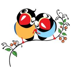 pair of cartoon birds vector image