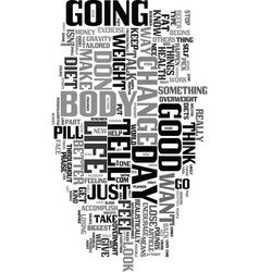 yes you can lose weight text word cloud concept vector image vector image