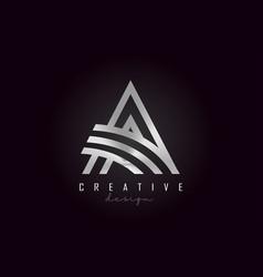 a silver letter logo monogram design creative a vector image