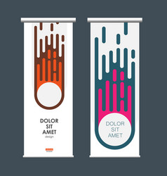 abstract comet on vertical banners vector image