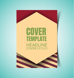 abstract report cover5 vector image