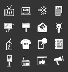 advertisement icons set grey vector image