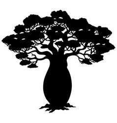 African tree silhouette vector