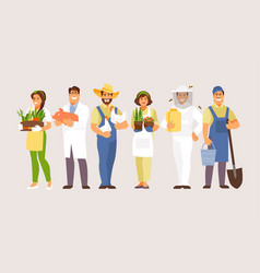 agricultural professions vector image