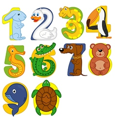 Animals like numbers vector