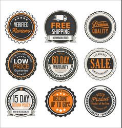 badges retro vintage design collection vector image