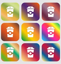 Breakfast Coffee icon vector