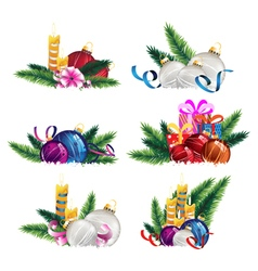 Bright celebratory decoration elements vector image