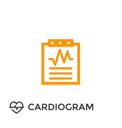 cardiogram heart diagnosis icon vector image
