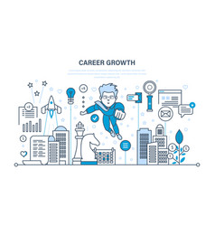 Career growth progress in education experience vector
