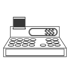 Cash register cashier flat icon vector